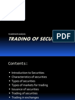 Trading of Securities
