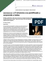 (Página_12 __ El mundo __ Benedicto XVI renuncia a su pontificado y sorprende a todos)