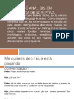 Niveles de análisis en lingüística descriptiva