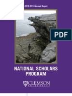 2013 National Scholars Program Annual Report