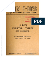 Tm 5-9026 16 TON CARRYALL TRAILER, CPT 16 SPECIAL, 1942