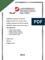Informe N°6 del Laboratorio de Química General