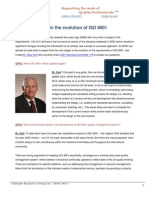 The next stages in the evolution of ISO 9001