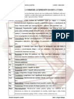 código para a corrección da expresión escrita 3º ESO