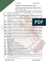 código para a corrección da expresión escrita cuarto