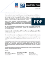 Letter of Invitation to Mayoral Debate
