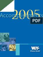 Winona Health Accomplishments 2005