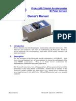 Pro Accelerometer Manual