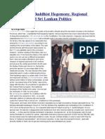 13 a, Sinhala Buddhist Hegemony, Regional Autonomy and Sri Lankan Politics
