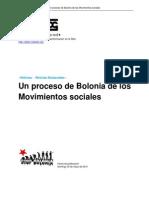 Un Proceso de Bolonia de Los Movimientos Sociales