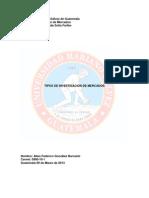 Tipos de Investigacion de Mercados 0900-10-1