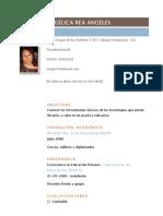 Currículum Angélica Rea Ángeles