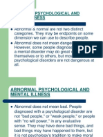 Abnormal Psychological and Mental Illness p.