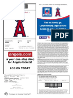 5/24/11 ANGELS TICKET