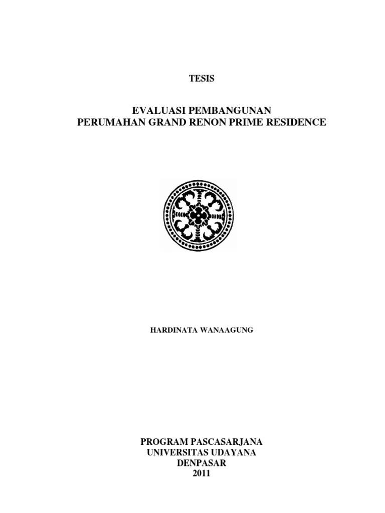 Contoh Proposal Skripsi Teknik Sipil Manajemen Konstruksi