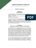 Formato Reglamento Interior de Trabajo