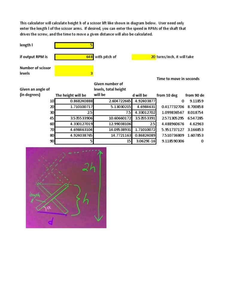 Pneumatic Lift Table Design herkules_ball_screw_lift_table_v0597_011 Scissor Lift Calculator