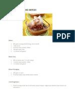 Resep Es Kacang Merah