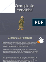 Concepto de Mortalidad