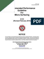 ISSA Microsurfacing A143-2010