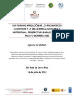 Informe XVII FAPC SAN Resumen Ejecutivo San José, 19-07-12