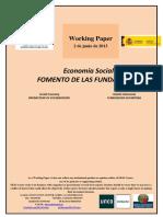 Economia Social Politicas de Fomento de Las Fundaciones