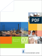 Pakistan Refinery Limited (Annual Report 2007)