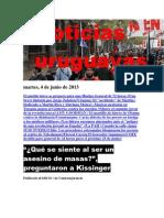Noticias Uruguayas Martes 4 de Junio Del 2013
