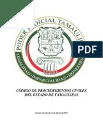 Codigo de Procedimientos Civiles Del Estado de Tamaulipas