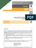 Tercer Informe Estándares CSES 2011-2012