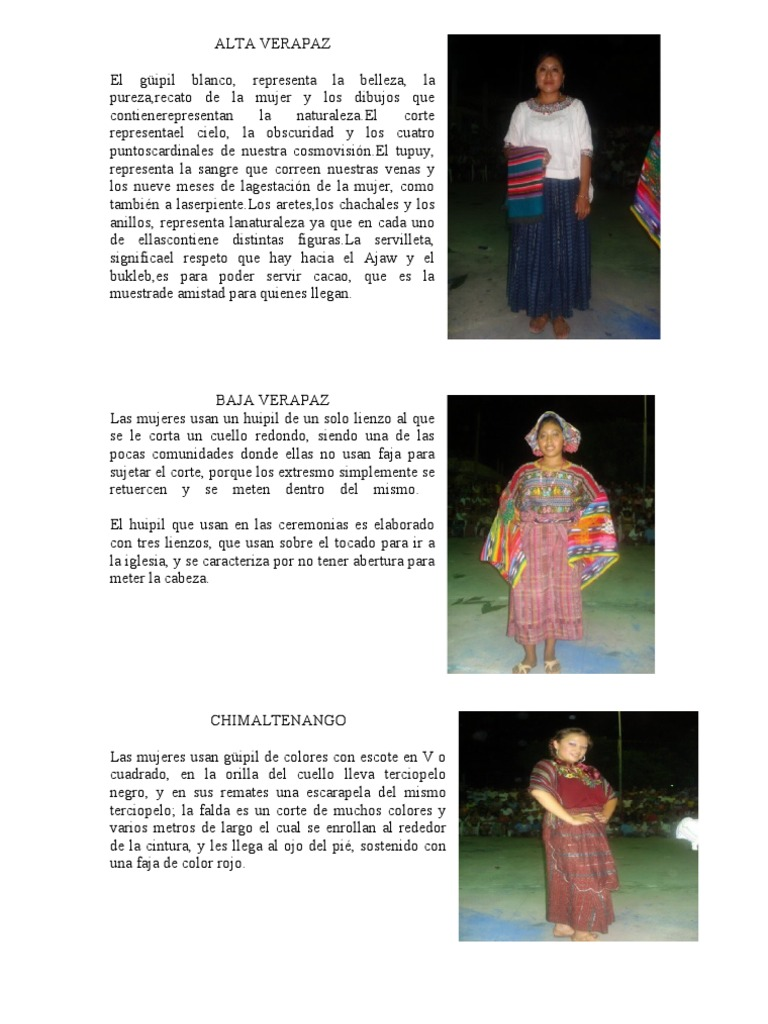 trajes regionales