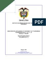 Cuadrante j12 y k13 Boletin de Geologia