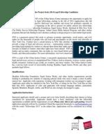 SVP Fellowship Posting 2013