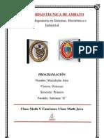 Clase y Funciones Clase Math Java, ejemplo