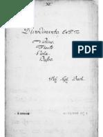 Divertimento in D Major - Violino (C.P.E. Bach)