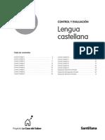 Control y evaluación Lengua castellana 1