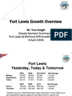 Fort Lewis Growth Overview - Tom Knight, 4-9-09