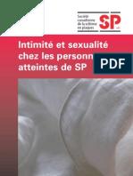intimité et sexualité chez les personnes atteintes de SP