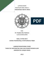Laporan Praktikum Kimia Fisika II