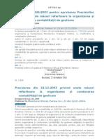 Ordinul Nr 1826 Din 2003 - Organizarea Si Conducerea Contabilitatii de Gestiune