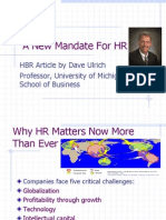 A New Mandate for HR