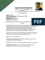 Imprimir Hoja de Vida Julio C. Panchi R. Actual