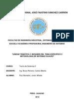 Resumen Tema 5 Semana 9 Metodologia de Sistemas Suaves - Ruiz Montalvo