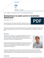 Entrepreneurs to Watch Out for in Amsterdam, Netherlands