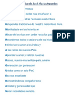 Acróstico de José María Arguedas