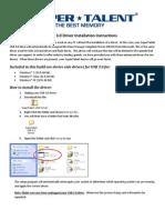 USB 3.0 Installation Instructions