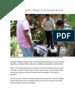 04/06/13 Sdpnoticias Llama Sso a Prevenir Dengue en Temporada de Lluvia