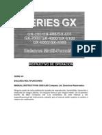 Manual de Usuario Balanza Serie GX