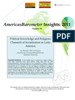Political Knowledge and Religious Channels of Socialization in Latin America