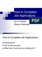 How to Complete Job Applications